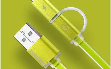 Kabel Remax Aurora MicroUSB - lighting (AA-1146) zelený