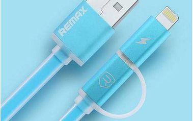 Kabel Remax Aurora MicroUSB - lighting (AA-1145) modrý