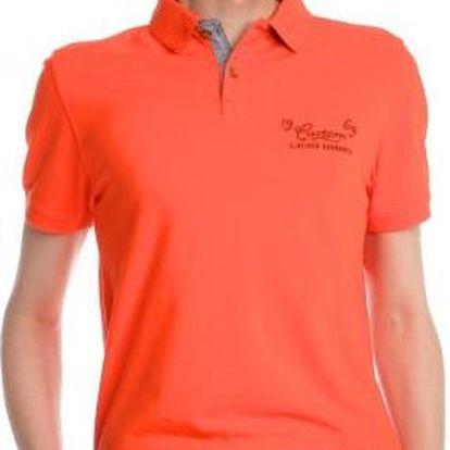 s.Oliver komfortní pánská polokošile M oranžová