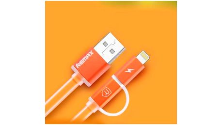 Kabel Remax Aurora MicroUSB - lighting (AA-1147) oranžový