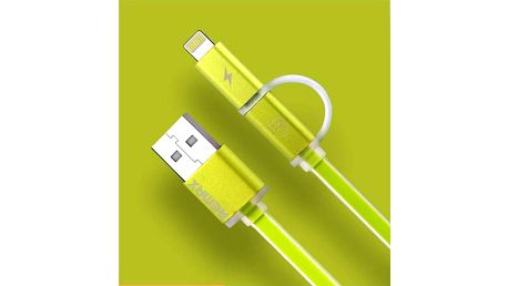 Kabel Remax Aurora MicroUSB - lighting (AA-1146) zelený
