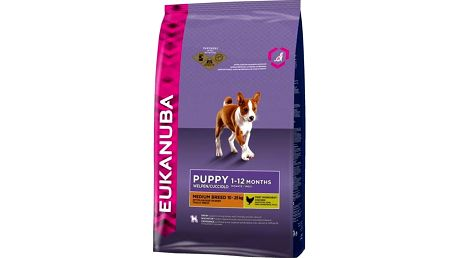 Granule Eukanuba Puppy & Junior Medium Breed 15 kg + Doprava zdarma