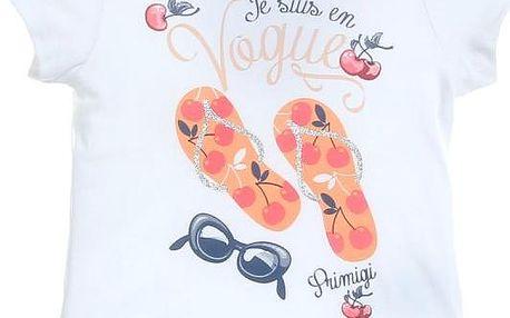 Dětské tričko Primigi 33221701 74 bílá