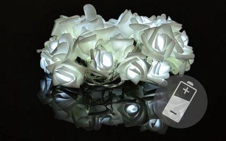 Sharks Dekorativní LED osvětlení růže studená bílá (D33216)