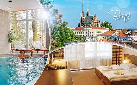 DNES KONČÍ! Hotel Fontána Brno na 2-4 dny pro dva či rodinu s polopenzí, wellness a puječním kol! Platnost 12/16.