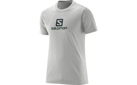 Salomon Ss Logo Cotton Tee M Light Grey Heather 2XL