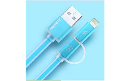 Kabel Remax Aurora MicroUSB - lighting (AA-1145) modrý