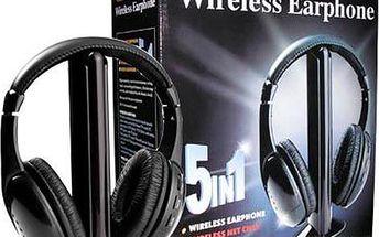 Multifunkční Hi-Fi bezdrátová sluchátka - 5 v 1