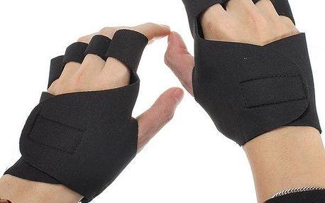 Neoprenové protiskluzové fitness rukavice - černé