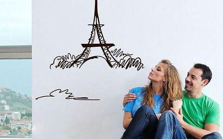 Nálepka na zeď - Eiffelova věž v různých barvách
