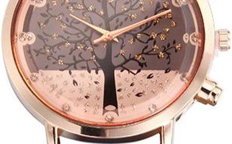 Elegantní dámské hodinky se stromem