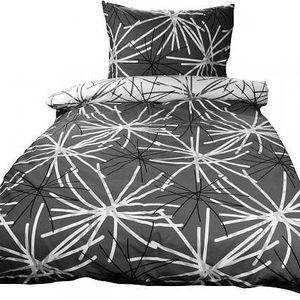 NOVIA Povlečení Tereza, bavlna, 4 dílné, černá, 140x200 70x90