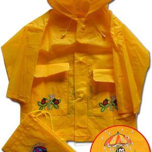 PIDILIDI Dětská pláštěnka Krteček - žlutá, 2 roky