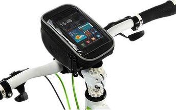 Cyklistická brašna na řídítka s kapsou pro telefon