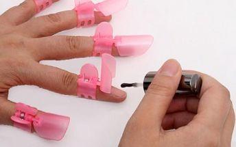 Chránítka čerstvě nalakovaných nehtů - 10 ks