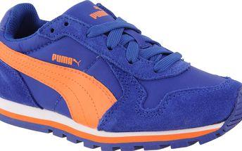Puma Chlapecké běžecké tenisky ST Runner NL - oranžovo-modré, EUR 35,5