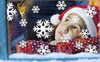 Samolepka na okno - sněhové vločky