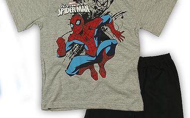 E plus M Chlapecké pyžamo Spiderman - šedé, 128 cm