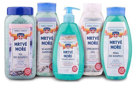 PALACIO Sada kosmetiky Mrtvé moře, 5ks - šampon, gel, sůl, pěna, mýdlo