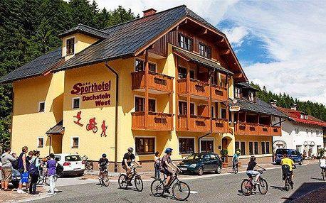 4denní last minute pobyt s wellness pro 2 v rakouském Sporthotelu Dachstein West