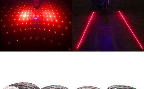 Laserové zadní světlo na kolo