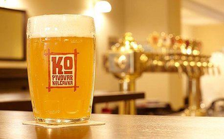 2–3denní pobyt pro 2 s prohlídkou pivovaru Kolčavka v Praze