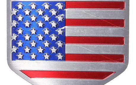 Hliníková samolepka na auto USA