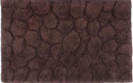 Bavlněná koupelnová předložka Brown, 50x80 cm
