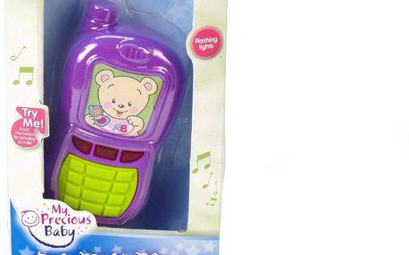 Teddies Telefon mobil na baterie se zvukem se světlem v krabičce
