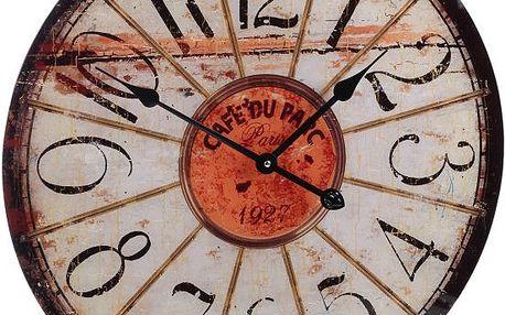 Koopman 35261 Nástěnné hodiny ROUND 57 cm - CAFÉ