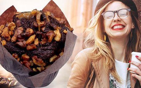 Káva a muffin z oblíbeného Yobaru