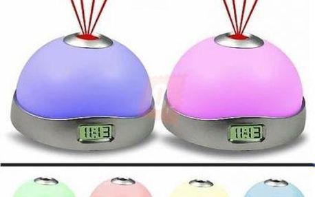 LED budík se sedmi druhy barevného světla a projektorem