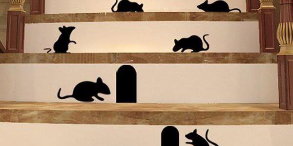 Samolepka na zeď - Myšičky