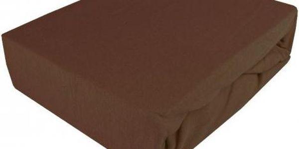 NOVIA Prostěradlo Jersey Exklusive, 90x200cm, bavlna, Barva Čokoládová hnědá