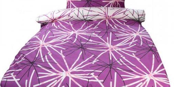 NOVIA Povlečení Tereza, bavlna, 4 dílné, fialová, 140x200 70x90