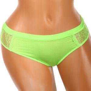 Svůdné kalhotky s krajkovou zadní částí zelená