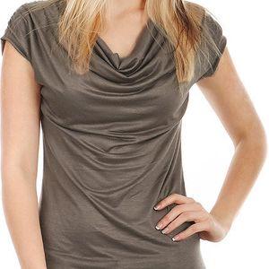 Krásné elegantní tričko khaki
