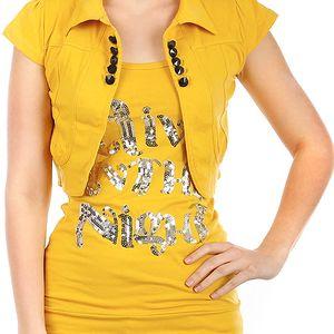 Krásné bolerko k tričkům a k tílkům oranžová