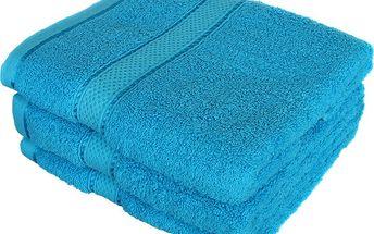 Froté ručník se vzorem Menheten tyrkysová