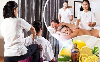 Thajská citrusová masáž aromatickými oleji od rodilých Thajek, v délce 60 nebo 90 minut, u metra B Anděl!