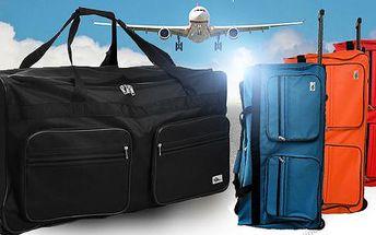 Cestovní taška XXL (výběr ze 4 barev) nebo 4dílný set s cestovními kufry! Cena včetně poštovného!
