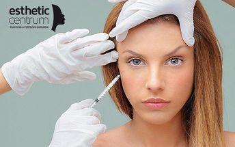 Aplikace botulotoxinu na klinice Esthetic Centrum