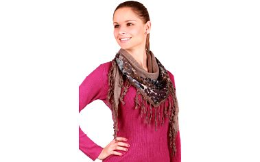 Stylový, hřejivý šátek šedá