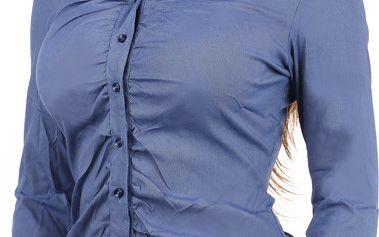 Stylová košile s dlouhým rukávem na knoflíky světle modrá