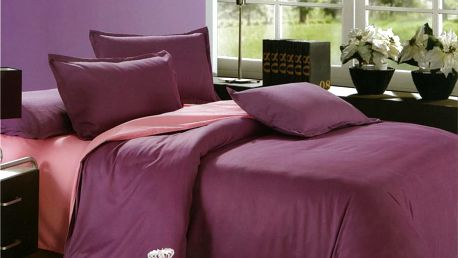 Moderní povlečení bavlna fialová