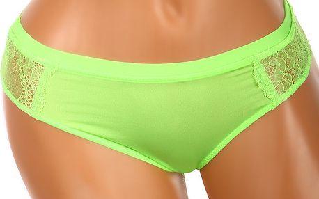 Dámské kalhotky s krajkovanou zadní částí zelená
