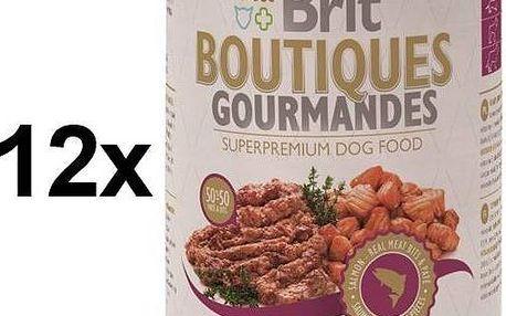 Brit Boutiques Gourmandes Salmon Bits&Paté 12 x 400g