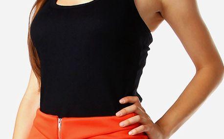 Zeštíhlující sukně se zipem oranžová