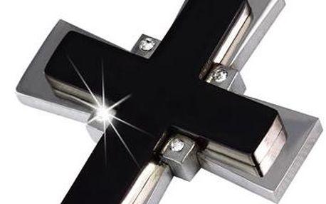 Přívěsek - křížek s kamínky