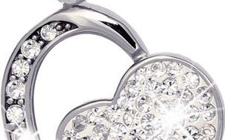 Přívěsek úžasné srdce s kamínky - heart
